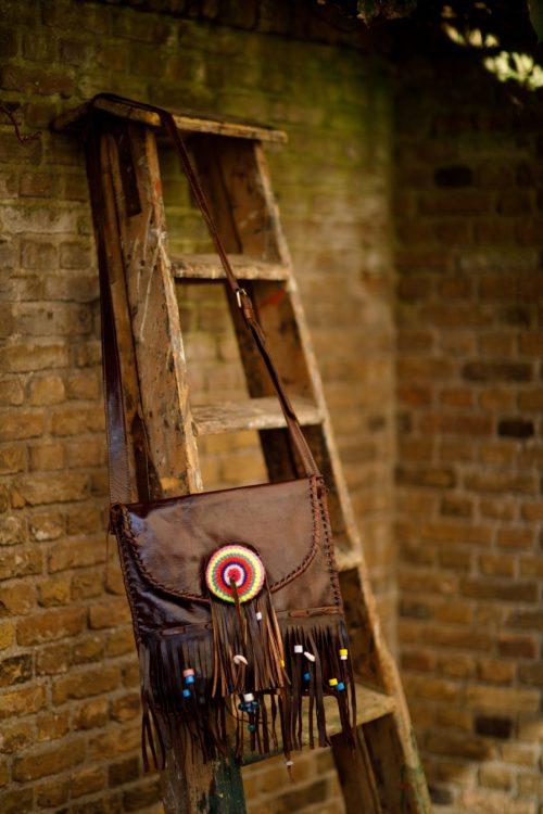 Najima Bag Fatima A011 Brown Dark Front