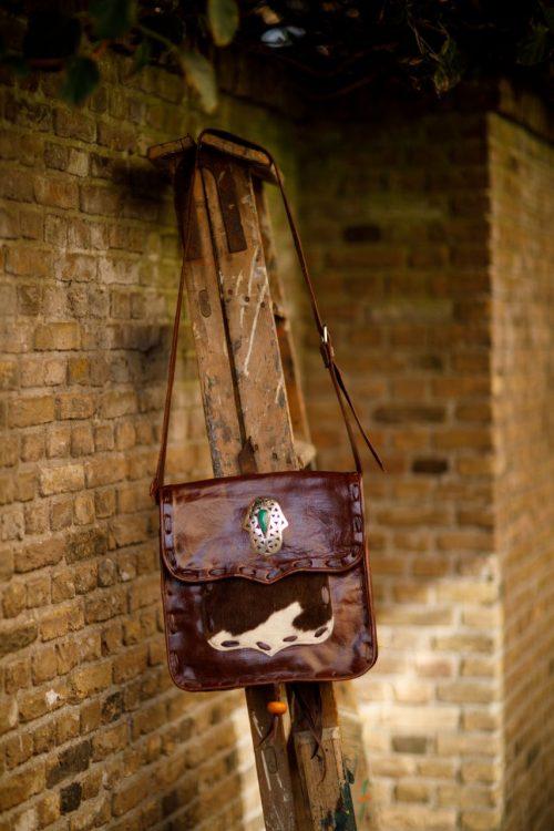 Najima Bag Jamila A018 Brown Dark Front