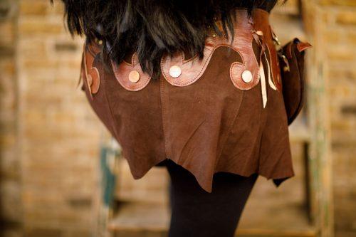 Najima Skirt Nabila B100 Brown Back