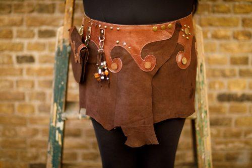 Najima Skirt Nabila B100 Brown Front