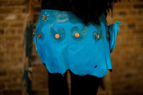Najima Skirt Nadia B100 Blue Back