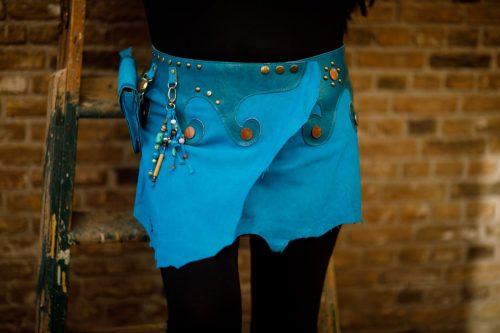 Najima Skirt Nadia B100 Blue Front
