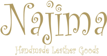 Najima, handmade leather goods Logo