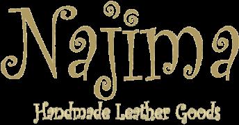 Najima, handmade leather goods Logo